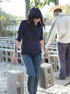 Ffrog briefly considers an alternative career in the cement industry.