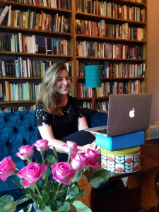 Viccy joins in the Brooklyn launch... from her sitting room in Edinburgh!